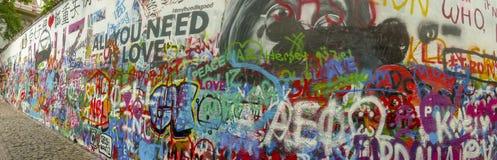 Τοίχος Lennon στην Πράγα, Δημοκρατία της Τσεχίας στοκ εικόνες