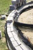 τοίχος patio βάσεων στοκ φωτογραφία με δικαίωμα ελεύθερης χρήσης