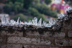 τοίχος shards μπουκαλιών Στοκ Εικόνες