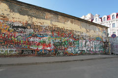 Τοίχος Tsoy σε παλαιό Arbat. Μόσχα Στοκ φωτογραφία με δικαίωμα ελεύθερης χρήσης