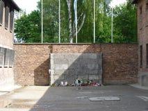 Τοίχος Wailing σε ένα στρατόπεδο συγκέντρωσης auschwitz birkenau Στοκ Εικόνες