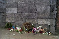Τοίχος Wailing Auschwitz Στοκ Φωτογραφίες