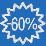 60 τοις εκατό έκπτωσης Στοκ Εικόνα