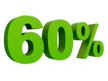 Τοις εκατό από την έκπτωση % τρισδιάστατο πράσινο κείμενο που απομονώνεται σε μια άσπρη τρισδιάστατη απόδοση υποβάθρου ελεύθερη απεικόνιση δικαιώματος