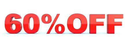 60 τοις εκατό από την έκπτωση διανυσματική απεικόνιση