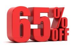 65 τοις εκατό από την προώθηση Στοκ Φωτογραφίες