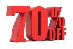 70 τοις εκατό από την προώθηση Στοκ εικόνα με δικαίωμα ελεύθερης χρήσης