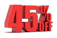 45 τοις εκατό από την προώθηση Στοκ εικόνα με δικαίωμα ελεύθερης χρήσης