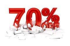 Τοις εκατό από την πώληση έκπτωσης στοκ φωτογραφία