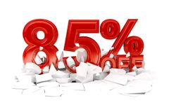Τοις εκατό από την πώληση έκπτωσης στοκ φωτογραφία με δικαίωμα ελεύθερης χρήσης