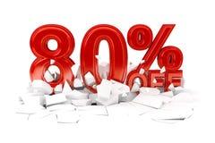 Τοις εκατό από την πώληση έκπτωσης στοκ εικόνα