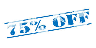 75 τοις εκατό από το μπλε γραμματόσημο Στοκ Φωτογραφία
