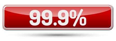 99 9 τοις εκατό - αφηρημένο όμορφο κουμπί με το κείμενο Στοκ Εικόνες