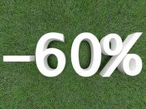 τοις εκατό εξήντα έκπτωσης Στοκ εικόνα με δικαίωμα ελεύθερης χρήσης