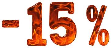 Τοις εκατό μακριά έκπτωση Μείον 15, δεκαπέντε τοις εκατό, isol αριθμών Στοκ φωτογραφία με δικαίωμα ελεύθερης χρήσης