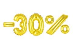 30 τοις εκατό, χρυσό χρώμα Στοκ Εικόνες