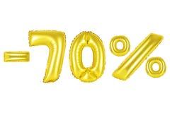 70 τοις εκατό, χρυσό χρώμα Στοκ εικόνα με δικαίωμα ελεύθερης χρήσης