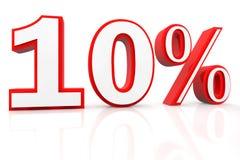 τοις εκατό δέκα έκπτωσης Στοκ Εικόνα