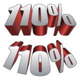 110 τοις εκατό ελεύθερη απεικόνιση δικαιώματος