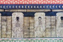 Τοιχογραφία απεικόνισης ιατρικής σε Wat Po, Μπανγκόκ Στοκ φωτογραφία με δικαίωμα ελεύθερης χρήσης