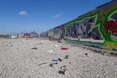 Τοιχογραφία γκράφιτι στην Κοπεγχάγη, Δανία Στοκ φωτογραφία με δικαίωμα ελεύθερης χρήσης