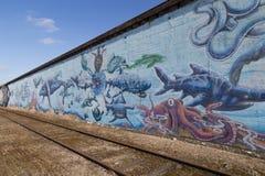 Τοιχογραφία γκράφιτι στην Κοπεγχάγη, Δανία Στοκ Φωτογραφία