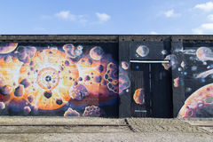 Τοιχογραφία γκράφιτι στην Κοπεγχάγη, Δανία Στοκ Εικόνα