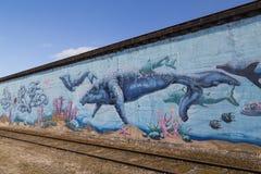Τοιχογραφία γκράφιτι στην Κοπεγχάγη, Δανία Στοκ Εικόνες