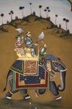 τοιχογραφία ελεφάντων Στοκ φωτογραφίες με δικαίωμα ελεύθερης χρήσης