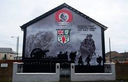 Τοιχογραφία ενωτικού, Μπέλφαστ, Βόρεια Ιρλανδία Στοκ Εικόνες