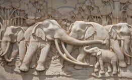 Τοιχογραφία ελεφάντων Στοκ Εικόνα