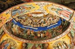 τοιχογραφία θόλων εκκλησιών στοκ εικόνα