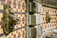 Τοιχογραφία λιονταριών στον τοίχο. Στοκ εικόνες με δικαίωμα ελεύθερης χρήσης