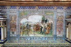 Τοιχογραφία κεραμικών κεραμιδιών Plaza de Espana στη Σεβίλη, Στοκ φωτογραφία με δικαίωμα ελεύθερης χρήσης