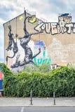Τοιχογραφία με τα νεκρά ζώα, σε Kreuzberg, Βερολίνο Στοκ φωτογραφίες με δικαίωμα ελεύθερης χρήσης