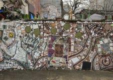 Τοιχογραφία μωσαϊκών από το Isaiah Zagar, Φιλαδέλφεια Στοκ φωτογραφία με δικαίωμα ελεύθερης χρήσης