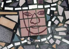 Τοιχογραφία μωσαϊκών από το Isaiah Zagar, Φιλαδέλφεια Στοκ Φωτογραφίες