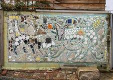 Τοιχογραφία μωσαϊκών από το Isaiah Zagar, Φιλαδέλφεια Στοκ εικόνα με δικαίωμα ελεύθερης χρήσης