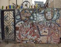 Τοιχογραφία μωσαϊκών από το Isaiah Zagar, Φιλαδέλφεια Στοκ Εικόνες