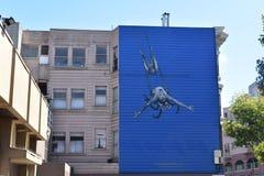 Τοιχογραφία οικοδόμησης οδών του Σαν Φρανσίσκο Στοκ εικόνες με δικαίωμα ελεύθερης χρήσης