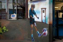 Τοιχογραφία σε έναν τοίχο Στοκ φωτογραφίες με δικαίωμα ελεύθερης χρήσης