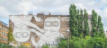 Τοιχογραφία σε Kreuzberg, Βερολίνο Στοκ Εικόνα