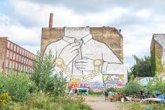 Τοιχογραφία σε Kreuzberg, Βερολίνο Στοκ φωτογραφία με δικαίωμα ελεύθερης χρήσης