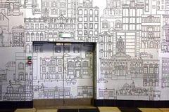 Τοιχογραφία στην αποθήκη λεωφορείων, πολιτικό κέντρο, Καίηπ Τάουν, Νότια Αφρική Στοκ Φωτογραφία