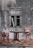 Τοιχογραφία στην παλαιά πόλη Songkhla, Songkhla, Ταϊλάνδη Στοκ Φωτογραφίες