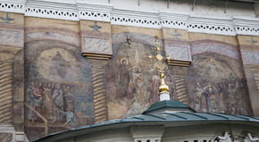 Τοιχογραφία στον καθεδρικό ναό Χριστού ο λυτρωτής, Ιρκούτσκ, Ρωσική Ομοσπονδία στοκ εικόνες