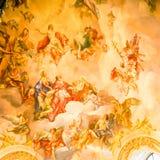 Τοιχογραφία στον τοίχο Στοκ φωτογραφία με δικαίωμα ελεύθερης χρήσης