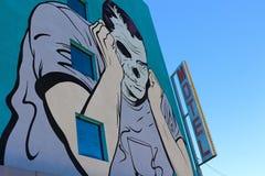 Τοιχογραφία στο στο κέντρο της πόλης Λας Βέγκας Στοκ Φωτογραφία