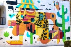 Τοιχογραφία στο στο κέντρο της πόλης Λας Βέγκας Στοκ φωτογραφίες με δικαίωμα ελεύθερης χρήσης
