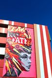Τοιχογραφία στο στο κέντρο της πόλης Λας Βέγκας Στοκ φωτογραφία με δικαίωμα ελεύθερης χρήσης